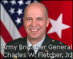 Army Brigadier General Charles W. Fletcher, Jr., Military Surface Deployment and Distribution Commander